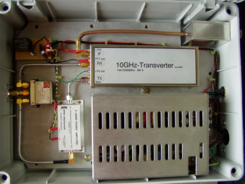 10 GHz transverter made by HA1YA