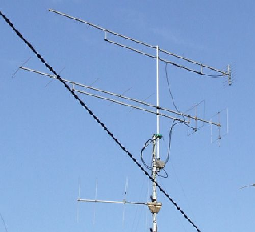 HA6NM VHF and UHF antenna is used for satellite work as well!