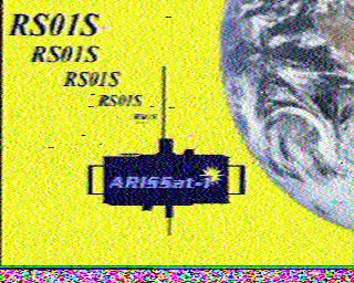 OM3BC's SSTV recetion of ARISSat-1