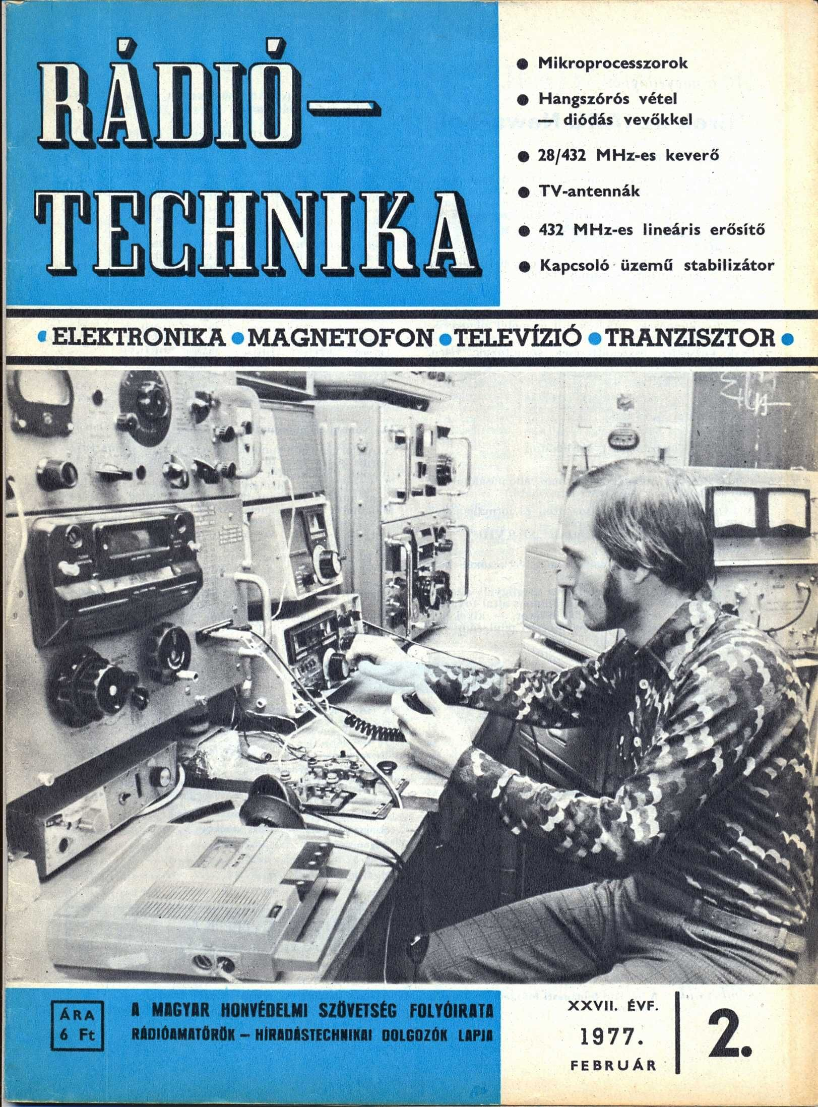 Radiotechnika February 1977 Cover Boy