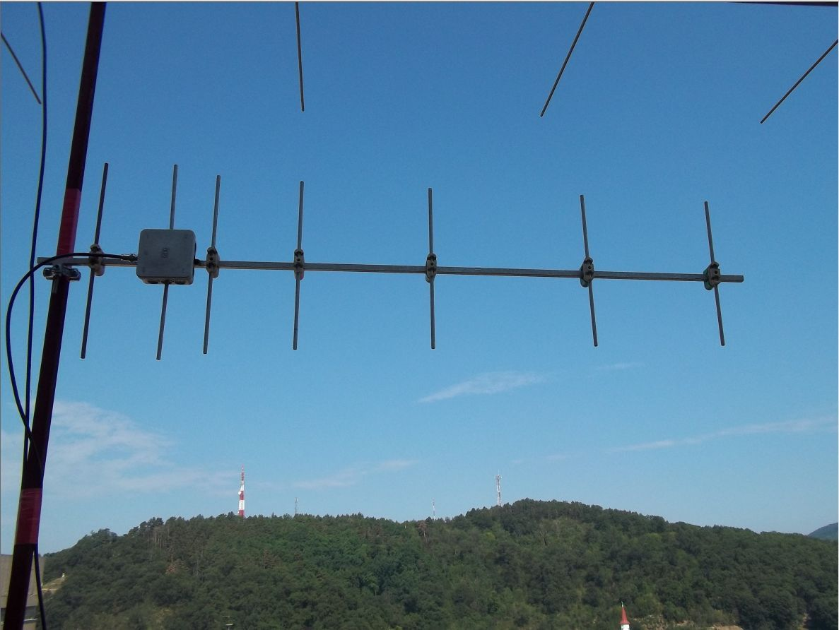 HA6NN's fixed yagi beaming the North