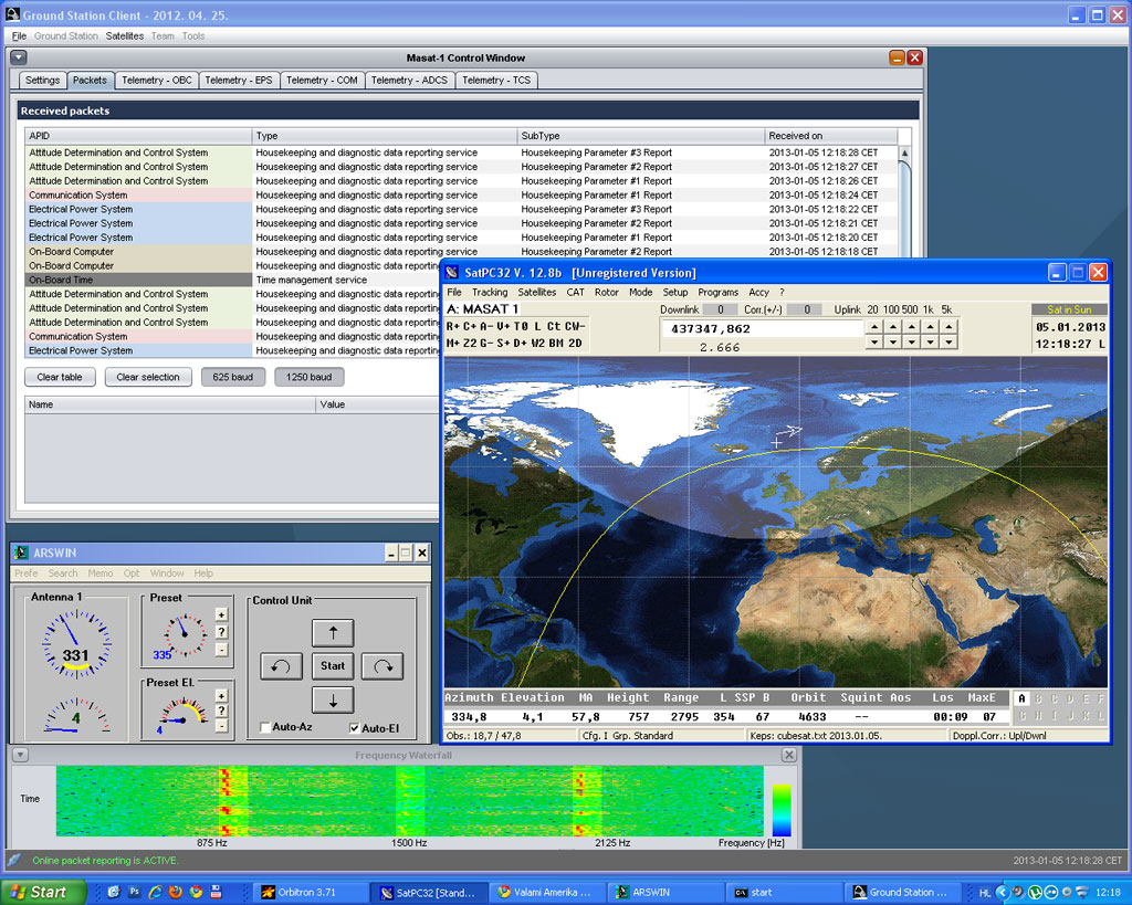 HA2ECZ is QRV for satellite reception again.