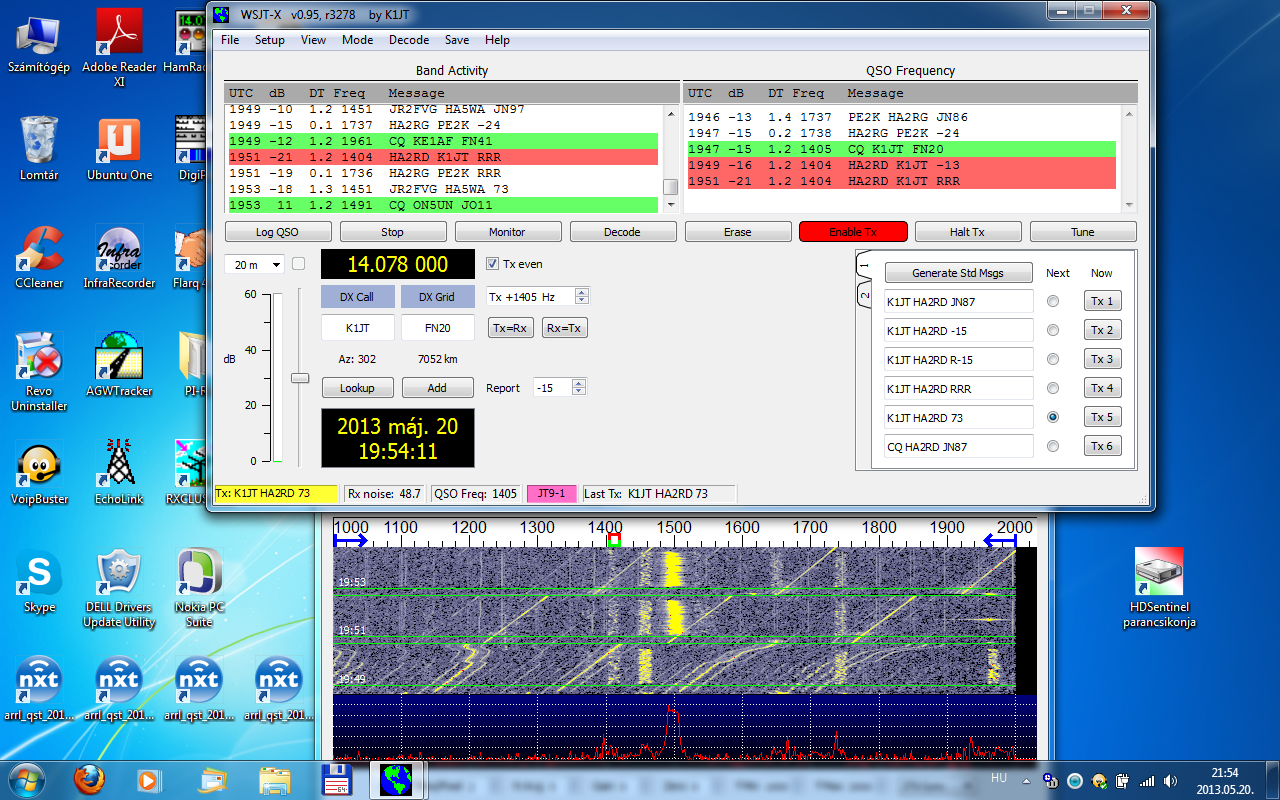 HA2RD's WSJT-X QSO with the author K1JT